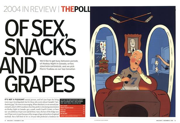 Article Preview: OF SEX, SNACKS AND GRAPES, December 2004 | Maclean's