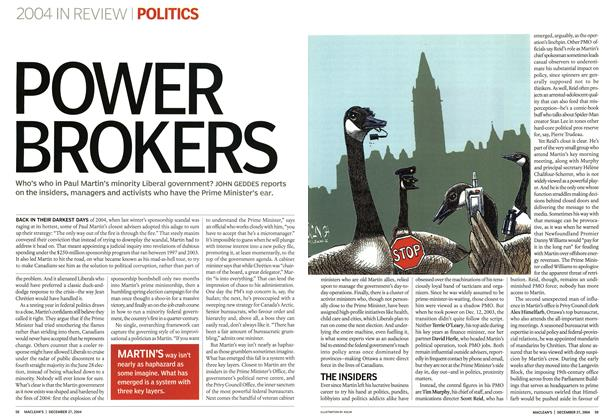 Article Preview: POWER BROKERS, December 2004 | Maclean's