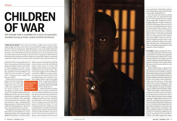 Article Preview: CHILDREN OF WAR, December 2004 | Maclean's