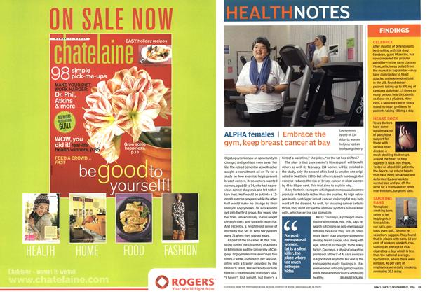 Article Preview: HEALTH NOTES, December 2004 | Maclean's