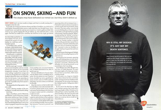 Article Preview: ON SNOW, SKIING—AND FUN, December 2004 | Maclean's