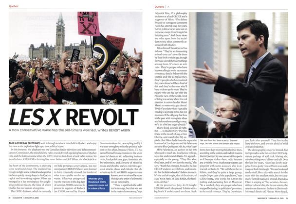 Article Preview: LES X REVOLT, January 10th 2005 | Maclean's