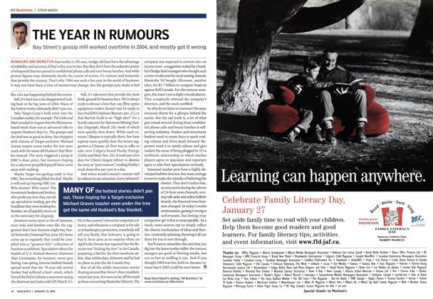 Article Preview: THE YEAR IN RUMOURS, January 10th 2005 | Maclean's