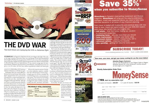 Article Preview: THE DVD WAR, January 10th 2005 | Maclean's