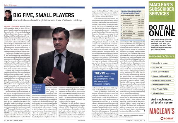 Article Preview: BIG FIVE, SMALL PLAYERS, January 10th 2005 | Maclean's