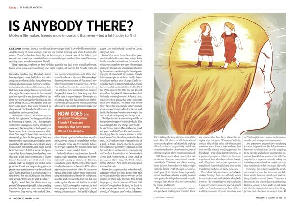 Article Preview: IS ANYBODY THERE?, January 2005 | Maclean's