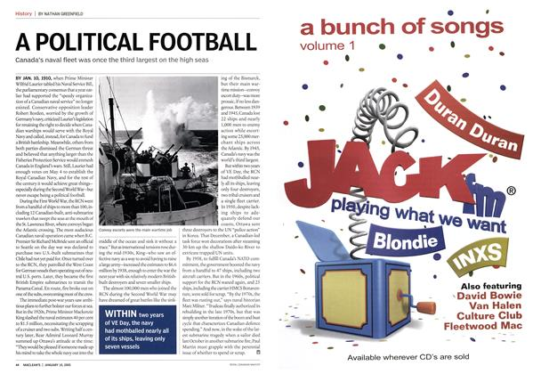 Article Preview: A POLITICAL FOOTBALL, January 10th 2005 | Maclean's