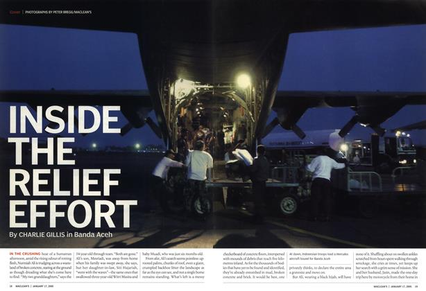 Article Preview: INSIDE THE RELIEF EFFORT, January 17th 2005 | Maclean's