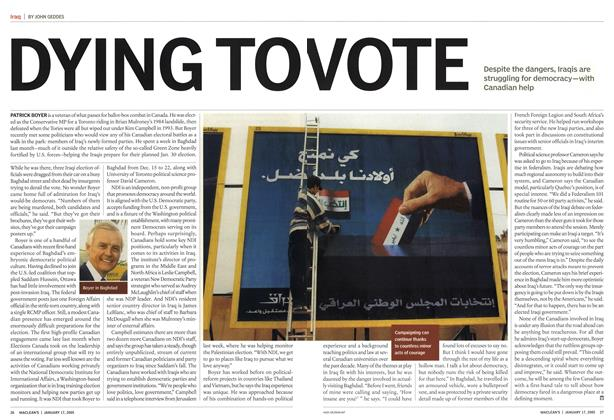 Article Preview: DYING TO VOTE, January 17th 2005 | Maclean's