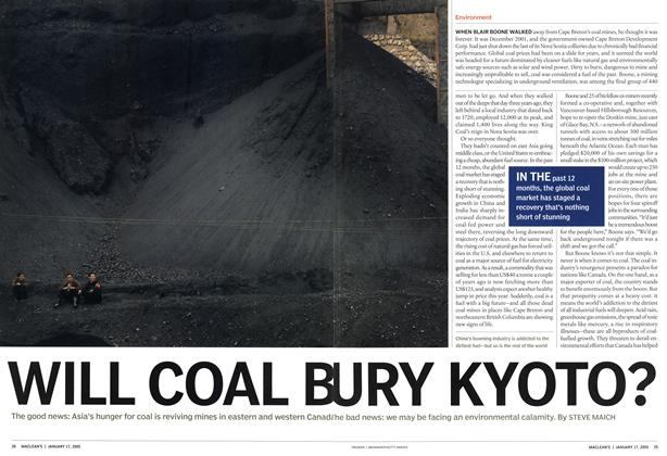Article Preview: WILL COAL BURY KYOTO?, January 17th 2005 | Maclean's