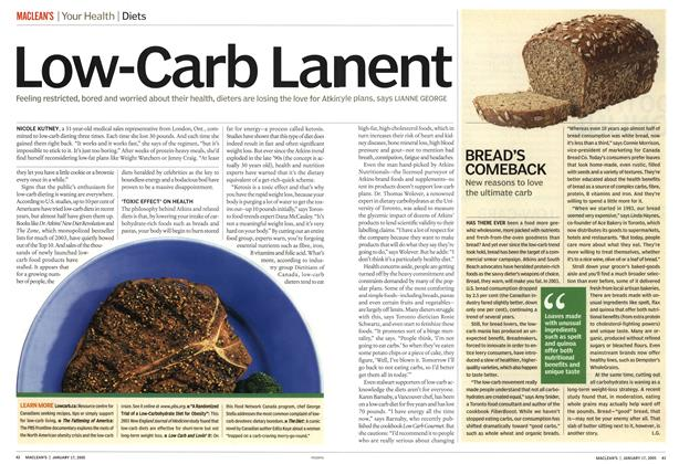 Article Preview: Low-Carb Lament, January 17th 2005 | Maclean's