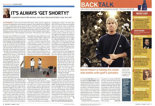 Article Preview: David Hearn is taking his clubs into battle with golf's Goliaths, January 17th 2005 | Maclean's