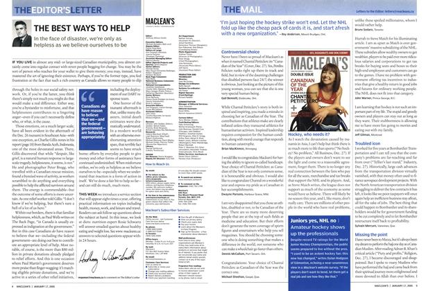 Article Preview: THE MAIL, January 17th 2005 | Maclean's
