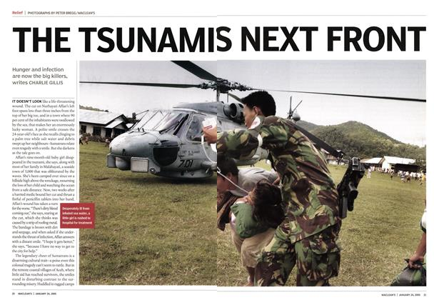 Article Preview: THE TSUNAMI'S NEXT FRONT, January 24th 2005 | Maclean's
