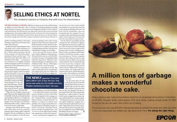 Article Preview: SELLING ETHICS AT NORTEL, January 24th 2005 | Maclean's