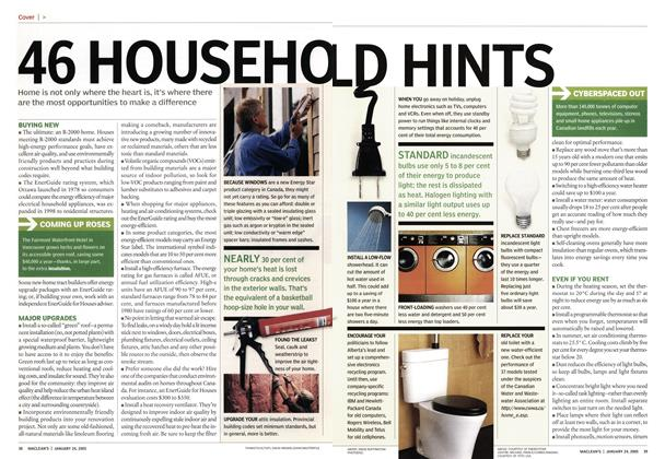 Article Preview: 46 HOUSEHOLD HINTS, January 24th 2005 | Maclean's