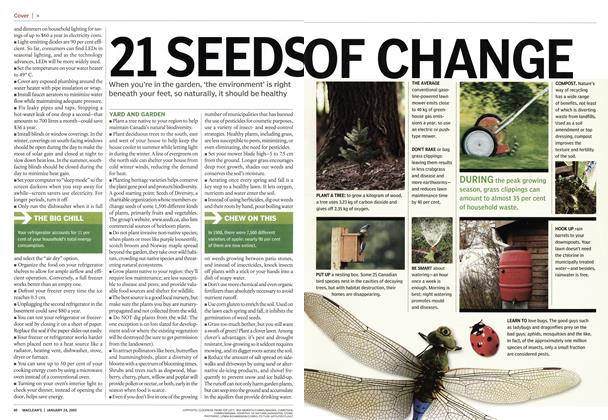 Article Preview: 21 SEEDS OF CHANGE, January 24th 2005 | Maclean's