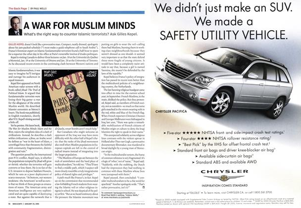 Article Preview: A WAR FOR MUSLIM MINDS, January 24th 2005 | Maclean's