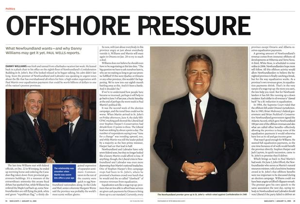 Article Preview: OFFSHORE PRESSURE, January 31st 2005 | Maclean's