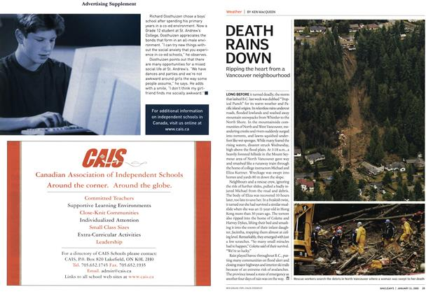 Article Preview: DEATH RAINS DOWN, January 2005 | Maclean's