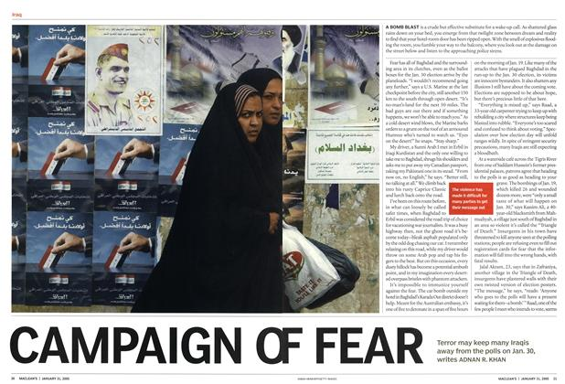 Article Preview: CAMPAIGN OF FEAR, January 2005 | Maclean's