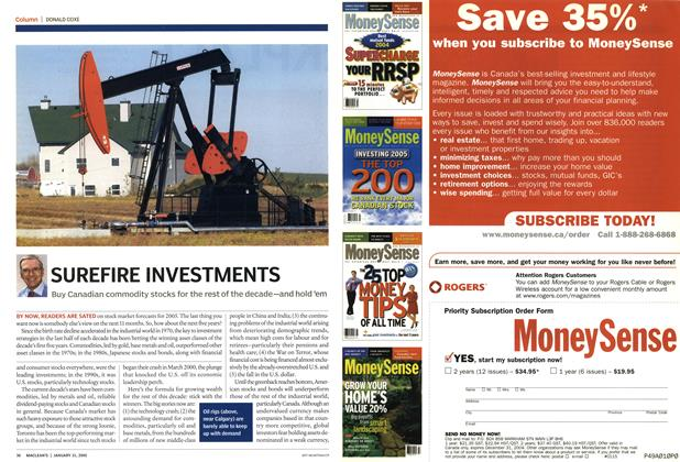 Article Preview: SUREFIRE INVESTMENTS, January 31st 2005 | Maclean's