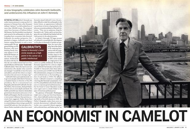 Article Preview: AN ECONOMIST IN CAMELOT, January 31st 2005 | Maclean's
