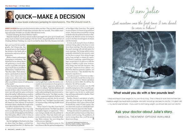 Article Preview: QUICK—MAKE A DECISION, January 31st 2005 | Maclean's