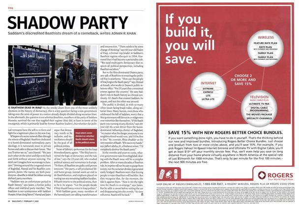 Article Preview: SHADOW PARTY, February 7th 2005 | Maclean's