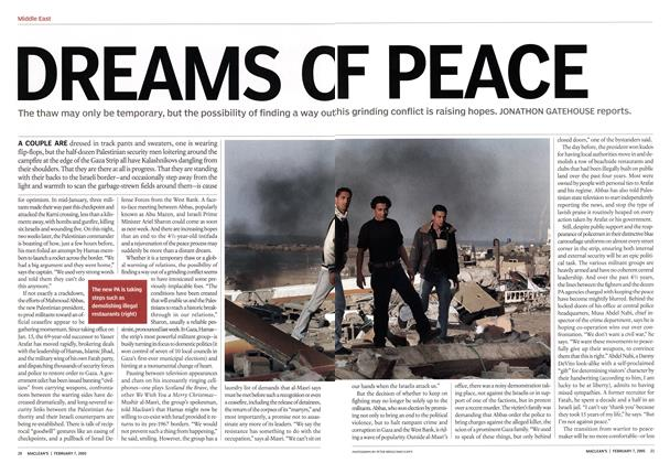 Article Preview: DREAMS OF PEACE, February 2005 | Maclean's