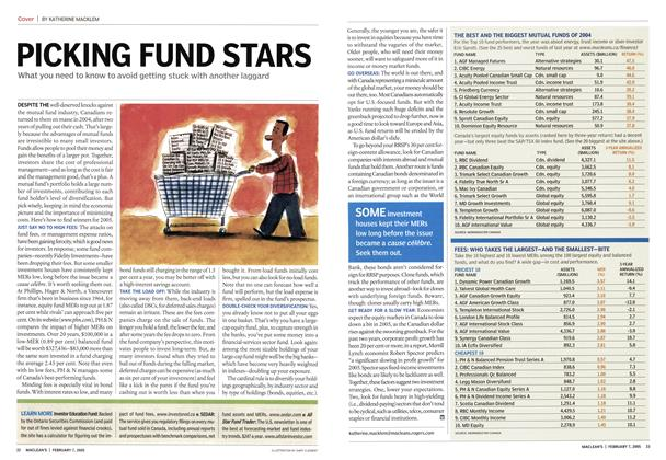 Article Preview: PICKING FUND STARS, February 7th 2005 | Maclean's