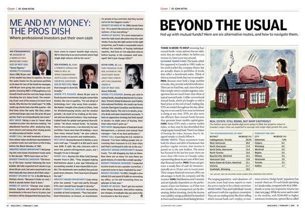 Article Preview: ME AND MY MONEY: THE PROS DISH, February 2005 | Maclean's