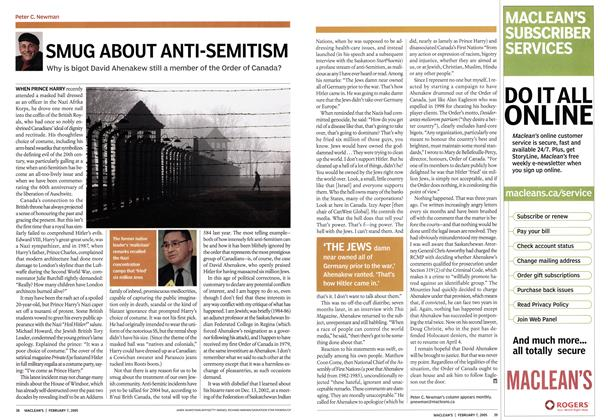 Article Preview: SMUG ABOUT ANTI-SEMITISM, February 7th 2005 | Maclean's