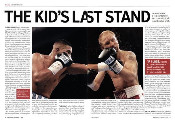 Article Preview: THE KID'S LAST STAND, February 7th 2005 | Maclean's