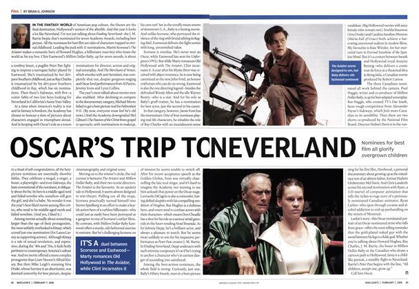Article Preview: OSCAR'S TRIP TO NEVERLAND, February 7th 2005 | Maclean's