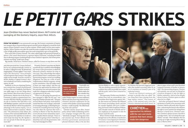 Article Preview: LE PETIT GARS STRIKES, February 14th 2005 | Maclean's