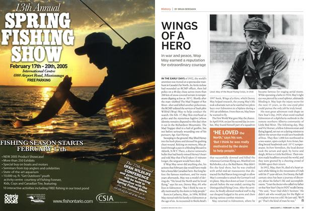 Article Preview: WINGS OF A HERO, February 14th 2005 | Maclean's
