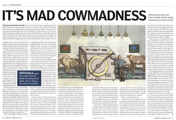 Article Preview: IT'S MAD COW MADNESS, February 2005 | Maclean's