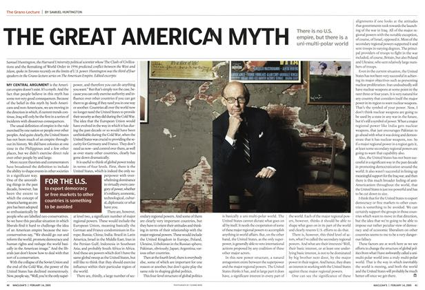 Article Preview: THE GREAT AMERICAN MYTH, February 2005 | Maclean's