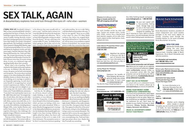 Article Preview: SEX TALK, AGAIN, February 14th 2005 | Maclean's