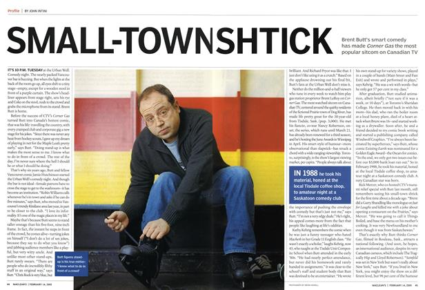 Article Preview: SMALL-TOWN SHTICK, February 2005 | Maclean's