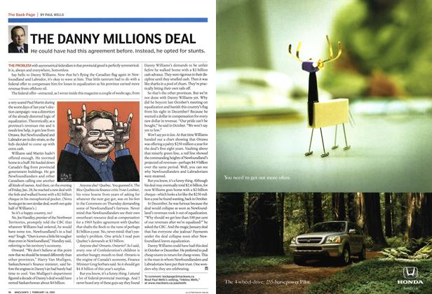 Article Preview: THE DANNY MILLIONS DEAL, February 2005 | Maclean's