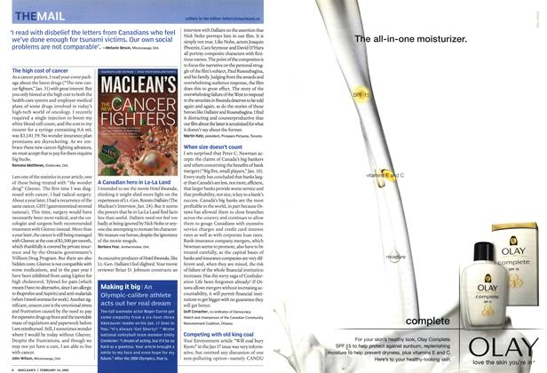 Article Preview: THE MAIL, February 14th 2005 | Maclean's