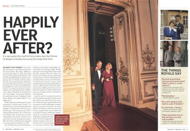 Article Preview: HAPPILY EVER AFTER?, February 21st 2005 | Maclean's