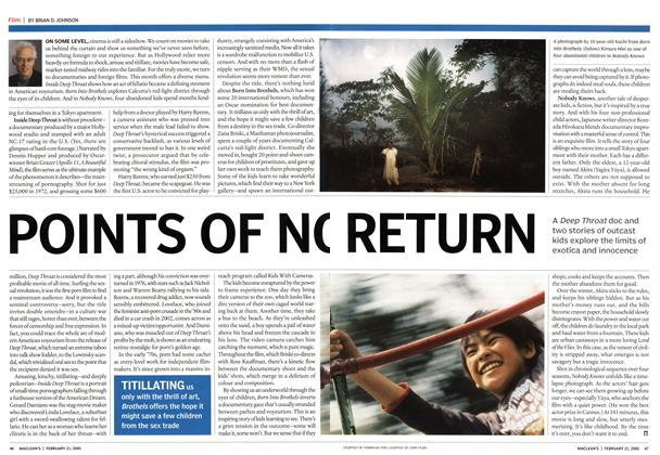 Article Preview: POINTS OF NO RETURN, February 21st 2005 | Maclean's
