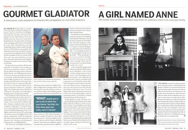 Article Preview: A GIRL NAMED ANNE, February 21st 2005 | Maclean's