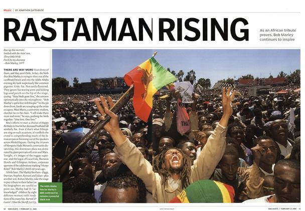 Article Preview: RASTAMAN RISING, February 21st 2005 | Maclean's