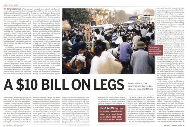 Article Preview: A $10 BILL ON LEGS, February 28th 2005 | Maclean's