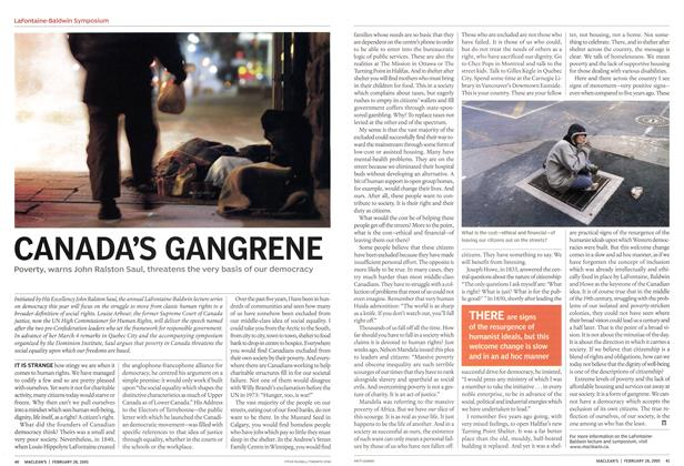 Article Preview: CANADA'S GANGRENE, February 28th 2005 | Maclean's