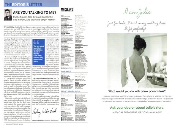 Article Preview: ARE YOU TALKING TO ME?, February 28th 2005 | Maclean's